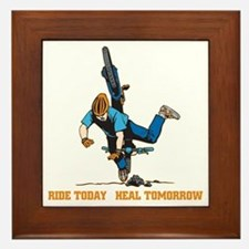 Ride Today Biking Framed Tile
