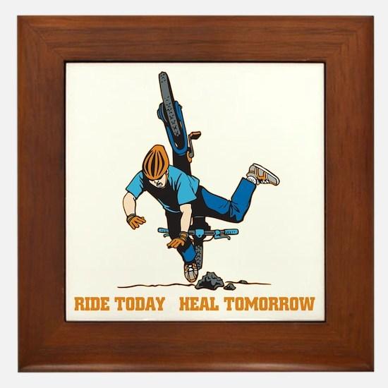 Ride Today Biking Framed Tile