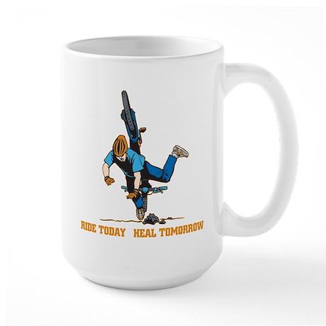 Ride Today Biking Large Mug