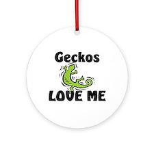 Geckos Love Me Ornament (Round)