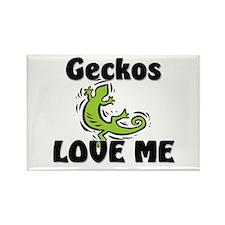 Geckos Love Me Rectangle Magnet