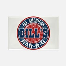 Bill's All American Bar-b-q Rectangle Magnet