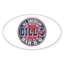 Bill's All American Bar-b-q Oval Decal