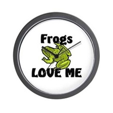 Frogs Love Me Wall Clock