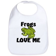 Frogs Love Me Bib