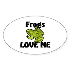 Frogs Love Me Oval Decal