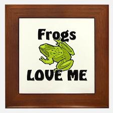Frogs Love Me Framed Tile
