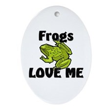 Frogs Love Me Oval Ornament