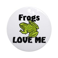 Frogs Love Me Ornament (Round)