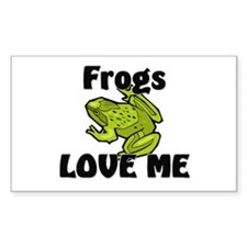 Frogs Love Me Rectangle Decal