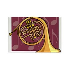 French Horn2 Rectangle Magnet