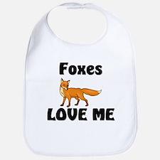 Foxes Love Me Bib