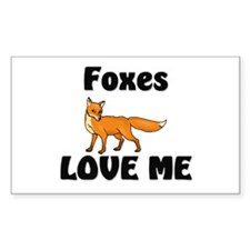 Foxes Love Me Rectangle Decal