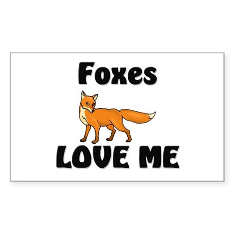 Foxes Love Me Rectangle Sticker
