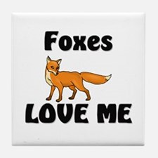 Foxes Love Me Tile Coaster
