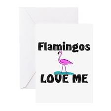 Flamingos Love Me Greeting Cards (Pk of 10)