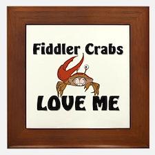 Fiddler Crabs Love Me Framed Tile