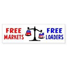 """Free Loaders"" Bumper Bumper Sticker"
