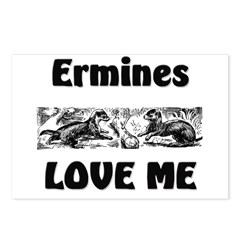 Ermines Love Me Postcards (Package of 8)