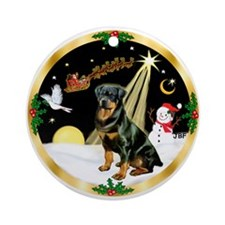 Night Flight-Rottweiler Ornament (Round)