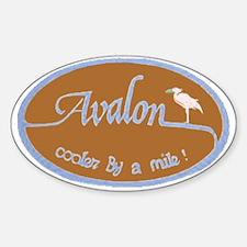 Avalon ... Cooler by a mile! Oval Sticker (10 pk)