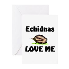 Echidnas Love Me Greeting Cards (Pk of 10)