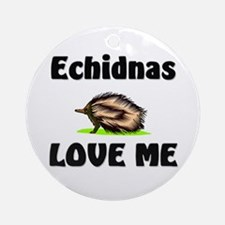 Echidnas Love Me Ornament (Round)