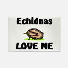 Echidnas Love Me Rectangle Magnet