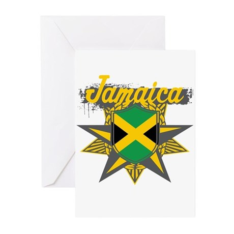 Jamaica Star Greeting Cards (Pk of 20)