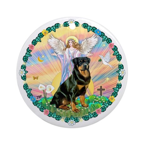 Blessings/Rottweiler Ornament (Round)