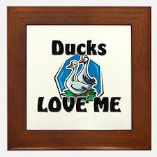 Ducks Love Me Framed Tile