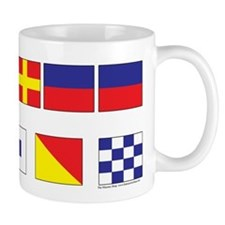 USN Freemason flags Mug