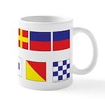 USN Freemason flags Mug