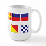USN Freemason flags Large Mug