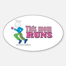 This mom runs Oval Decal