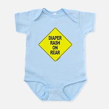 Diaper Rash on Rear -  Infant Creeper