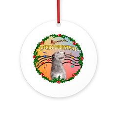 XmasMusic2-Irish Wolfhound Ornament (Round)