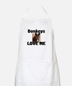 Donkeys Love Me BBQ Apron