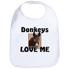 Donkeys Love Me Bib