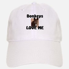 Donkeys Love Me Baseball Baseball Cap