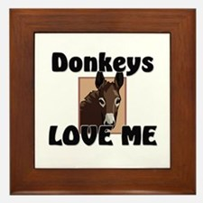 Donkeys Love Me Framed Tile