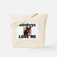 Donkeys Love Me Tote Bag