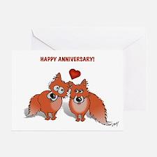 Foxy anniversary card!
