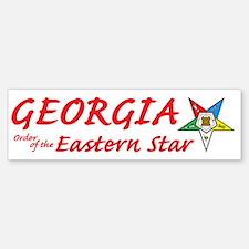 Georgia Eastern Star Bumper Bumper Bumper Sticker