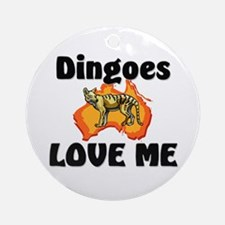 Dingoes Love Me Ornament (Round)