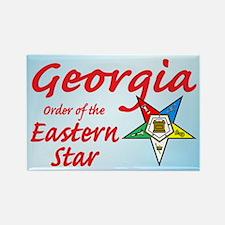 Georgia Eastern Star Rectangle Magnet (100 pack)