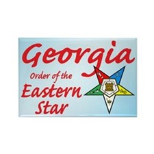 Georgia Eastern Star Rectangle Magnet