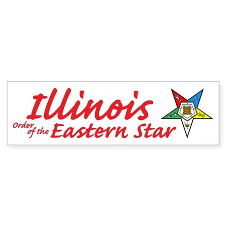 Illinois Eastern Star Bumper Sticker
