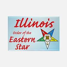 Illinois Eastern Star Rectangle Magnet (10 pack)