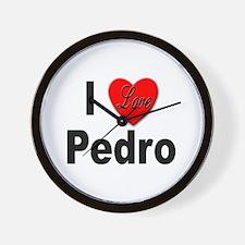 I Love Pedro Wall Clock